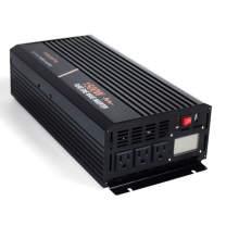 aeliussine 1500w Power Inverter Pure Sine Wave Inverter 24 Volt dc to ac 110v 120v Car Power Inverter for Off Grid Solar Power System (1500w24v LCD)