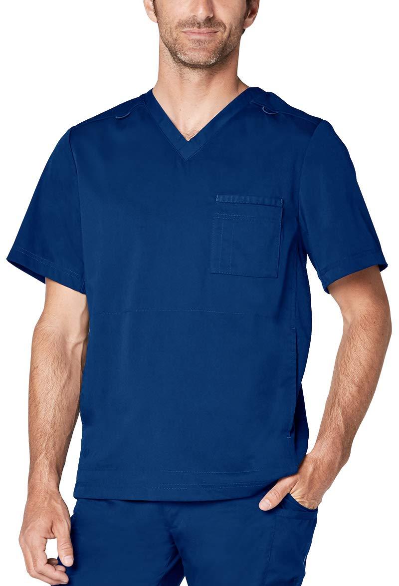 Adar Responsive Scrubs for Men - Active V-Neck Scrub Top
