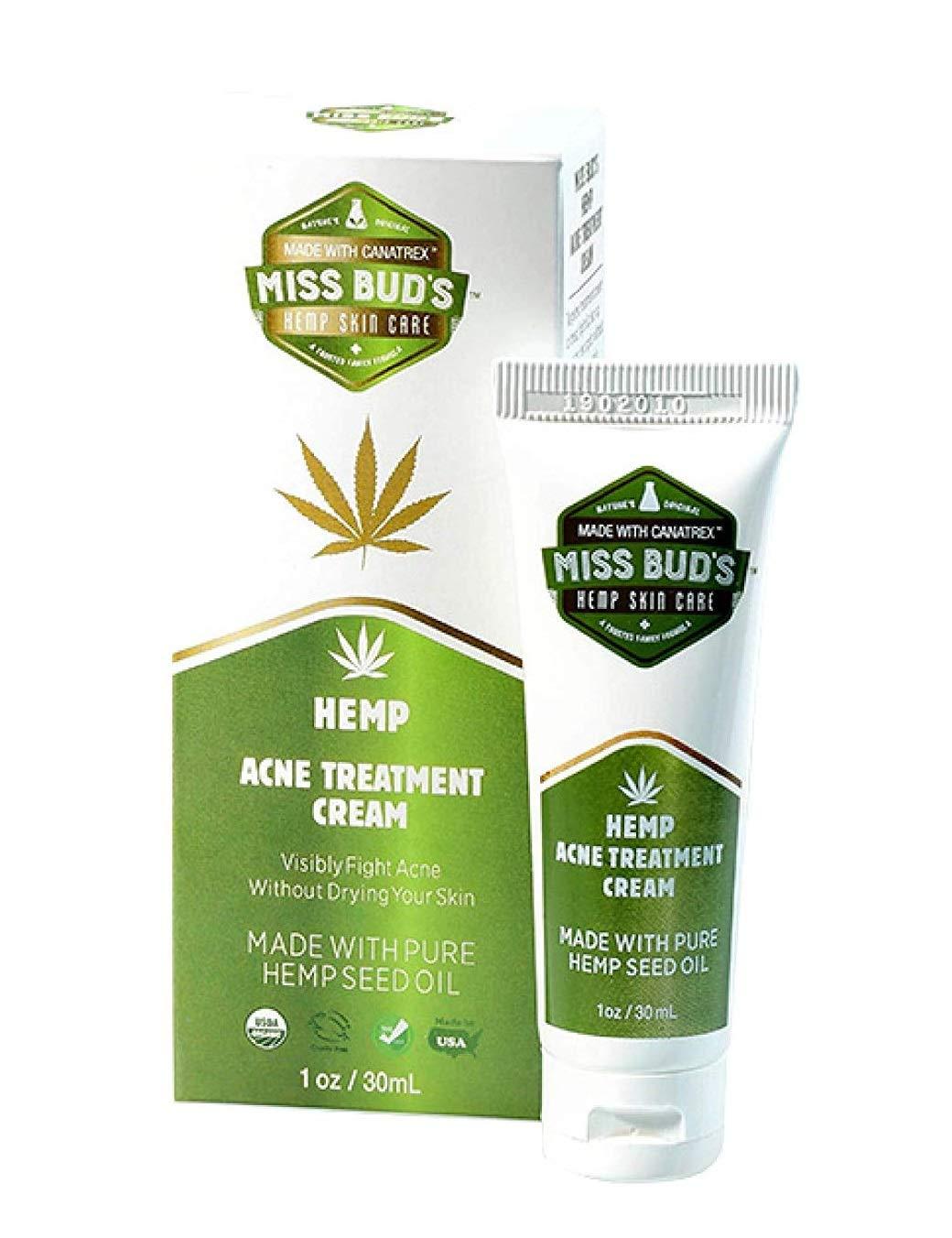 Miss Bud's Organic Hemp Acne Treatment Skincare Cream 1oz