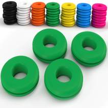Z Best Tennis Vibration Dampeners - Reduce String Rattle and Elbow Pain - Shock Absorbing Set - Great for Racquetball, Squash, Badminton - 4 Pack