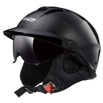 LS2 Helmets Rebellion Motorcycle Half Helmet (Matte Black - X-Small)