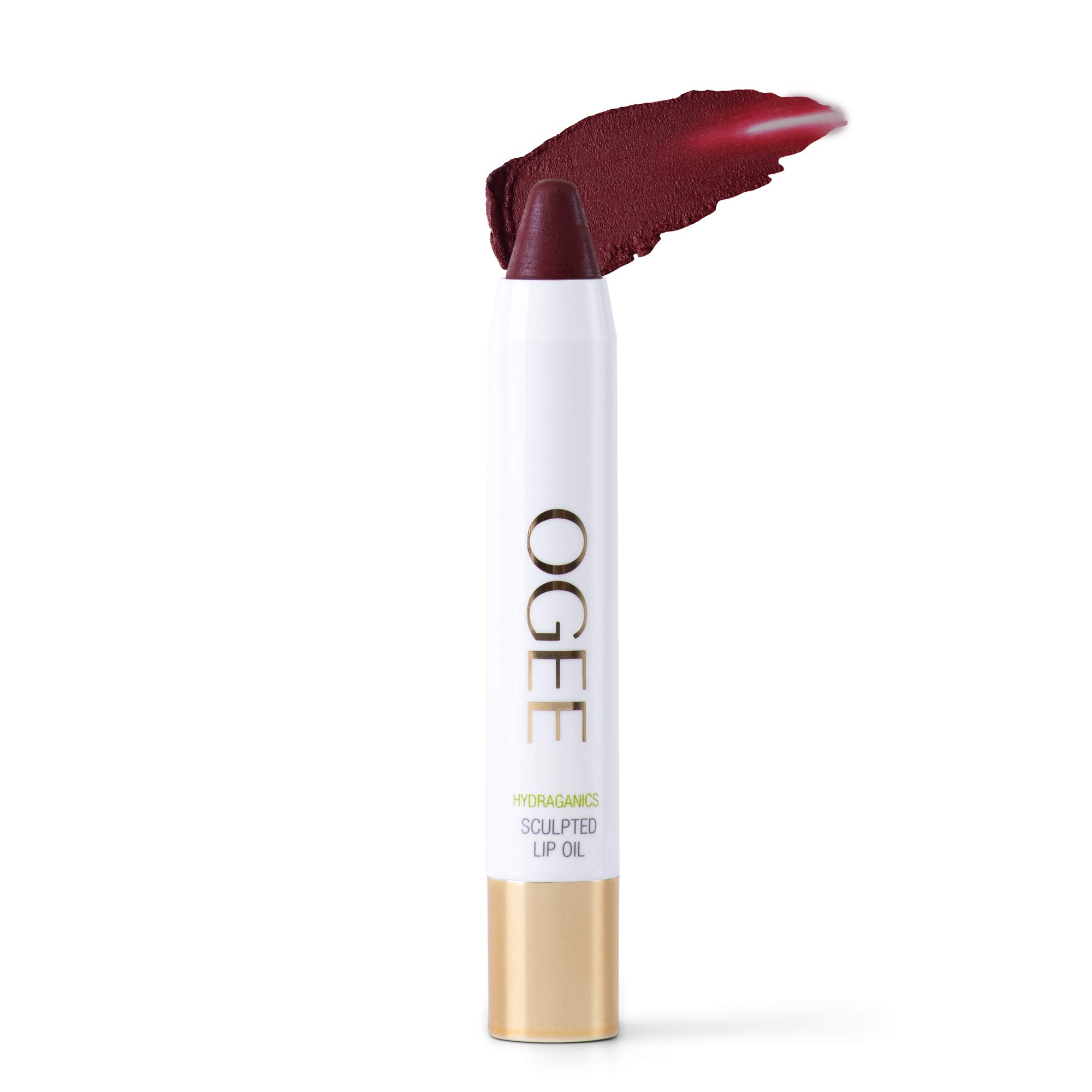 Ogee Tinted Sculpted Lip Oil - Made with 100% Organic Coconut Oil, Jojoba Oil, and Vitamin E - Best as Lip Balm, Lip Color or Lip Treatment - Dahlia