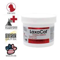 LaxaCat Hairball Remedy - Salmon Formula, Vitamin, Mineral Oil - Healthy Coat - Regular Bowel Movement - Natural Ingredients -90 Soft Chews
