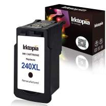 Remanufactured Ink Cartridge Replacement for Canon 240XL 240 XL PG 240XL (Single Black) with Ink Level Indicator Used in Canon PIXMA 2120 2220 3120 3220 4120 4220 MX372 432 512