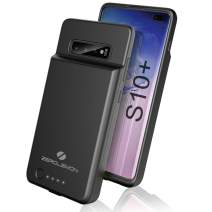 ZeroLemon Galaxy S10 Plus Battery Case, 5000mAh Extended Rechargeable Battery with Soft TPU Protective Portable Case for Galaxy S10 - Black