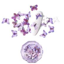 Ochine 3D Nail Art Three-Dimensional Simulation Butterfly Sequin Acrylic Nail Decoration Sequins