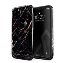 BURGA Phone Case Compatible with iPhone 11 PRO - Black Rose Gold Marble Meteor Shower Cute Case for Woman Heavy Duty Shockproof Dual Layer Hard Shell + Silicone Protective Cover