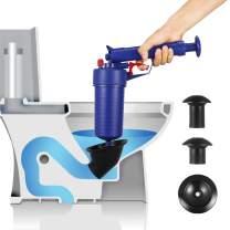 Drain blaster air Powered plunger gun, High Pressure Powerful drain clog remover sink Plunger Opener cleaner pump for Bath Toilets, Bathroom, Shower, kitchen Clogged Pipe Bathtub (blue)