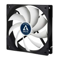 ARCTIC F12 PWM - 120 mm PWM Case Fan, Silent Cooler with Standard Case, PWM-Signal regulates Fan Speed, Push- or Pull Configuration possible, Fan Speed: 230-1350 RPM