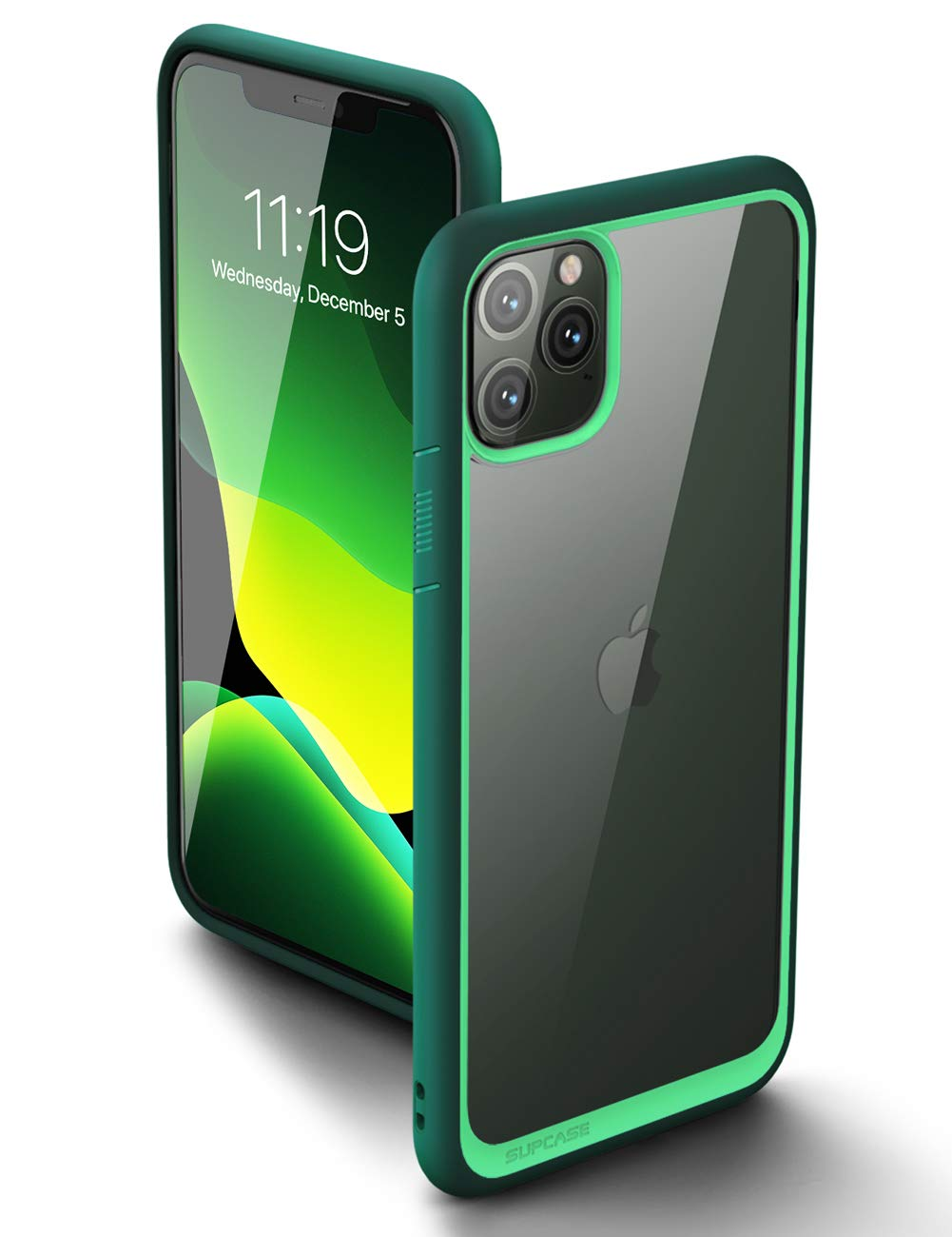 SupCase Unicorn Beetle Style Series Case Designed for iPhone 11 Pro Max 6.5 Inch (2019 Release), Premium Hybrid Protective Clear Case (DarkGreen)