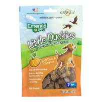 Emerald Pet - Dog Treats for Small and Large Dogs, All-Natural Real Meat, Mini Training Treats, High Protein, Grain-Free, Gluten-Free (Little Duckies, Duck, 5 Ounce)