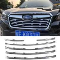 Beautost Fit for Subaru Forester 2019 2020 2021 Front Grill Grille Cover Trim Chrome