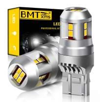 BMTxms 7440 7443 7444 LED Bulbs 992 W21W T20 LED Light Bulbs Replacement for Backup Reverse Light Bulb Tail Light 6000K White High Power 2835 12-SMD, Pack of 2