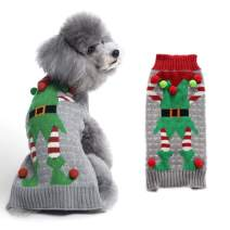 PETCARE Dog Ugly Sweater Holiday Warm Clothes for Small Medium Dogs Cats