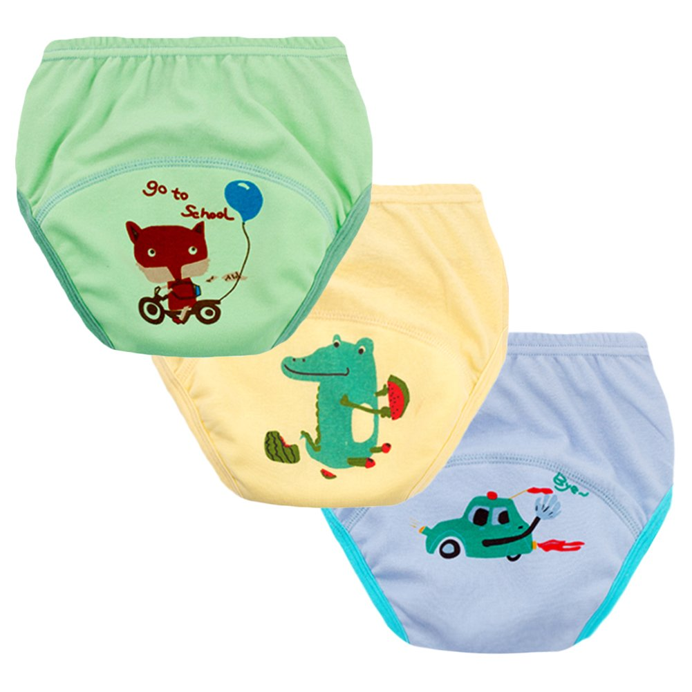 Max Shape Unisex Baby Toddler Potty Pee Training Pants Underwear Boys Girls Cotton Training Pants 4 Pack 12Months,2T,3T,4T