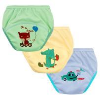 Set of 3 Toddler Boys Reusable Toilet Training Pants Cotton Nappy Underwear, Size 12 Months Boys
