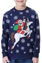 BesserBay Christmas Kid's Sweatshirt Long Sleeve Hoodies Xmas Shirt