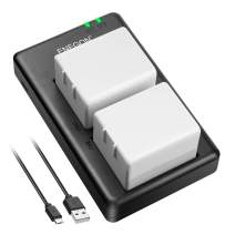 ENEGON Rechargeable Li-ion Battery (2 Pack) and Smart LED Dual Charger Kit ONLY for Arlo Pro, Arlo Pro 2