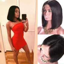 Bob Wigs For Black Women 13x6 Lace Front Wig Silk Top Straight Brazilian 100 Real Human Hair Virgin Hair Wigs 16 Inch Natural Color