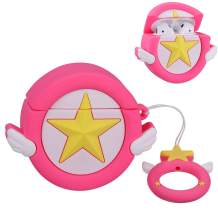 Mulafnxal Compatible with Airpods 1&2 Case,Cute Funny Cartoon Character Silicone Airpod Cover,Kawaii Fun Cool Design Skin,Fashion Animal Sailor Cases for Girls Kids Teens Boys Air pods(Rose Moon Star)