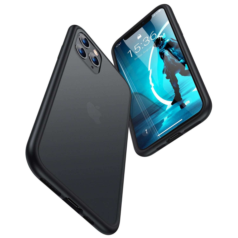 TORRAS Shockproof iPhone 11 Pro Case, [Military Grade Drop Tested] Translucent Hard Matte Case with Soft TPU Bumper Slim Phone Case for iPhone 11 Pro, Matte Black