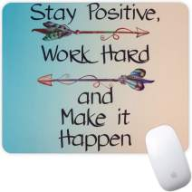 Marphe Mouse Pad Mousepad Non-Slip Rubber Gaming Mouse Pad Rectangle Mouse Pads for Computers Laptop (Stay Positive)