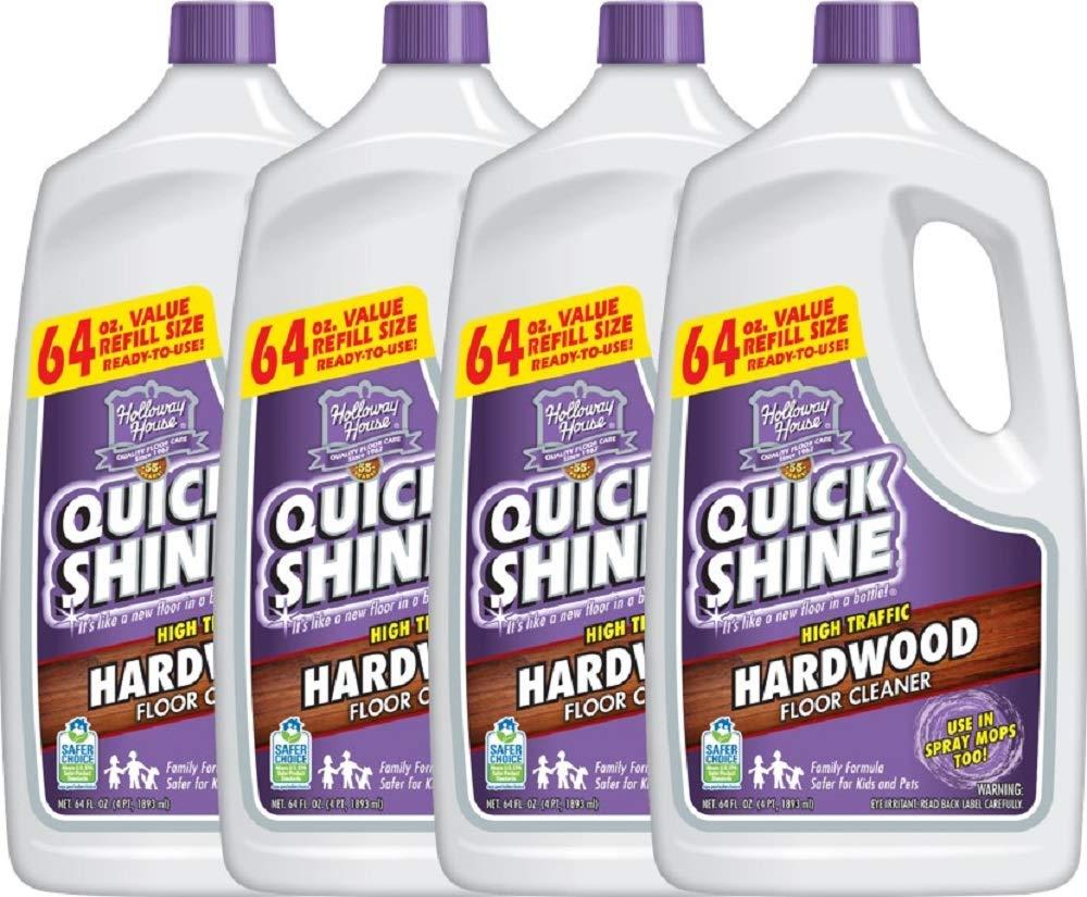Quick Shine High Traffic Hardwood Floor Cleaner, 64 Fl. Oz, 4 Bottles