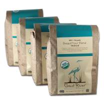 Great River Organic Milling, Bread Flour Blend, Oatmeal Blend, Stone Ground, Organic, 5-Pounds (Pack of 4)