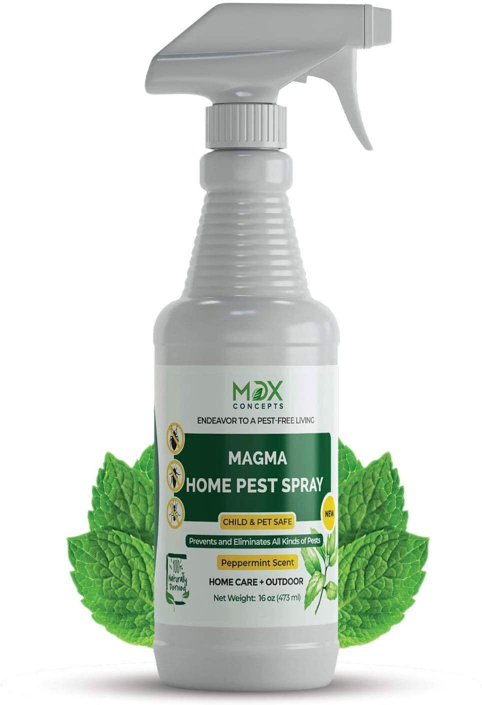 mdxconcepts Organic Home Pest Control Spray - Kills & Repels, Ants, Roaches, Spiders, and Other Pests Guaranteed - All Natural - Pet Safe - (Doesn't Include Sprayers) Indoor/Outdoor Spray - 16oz