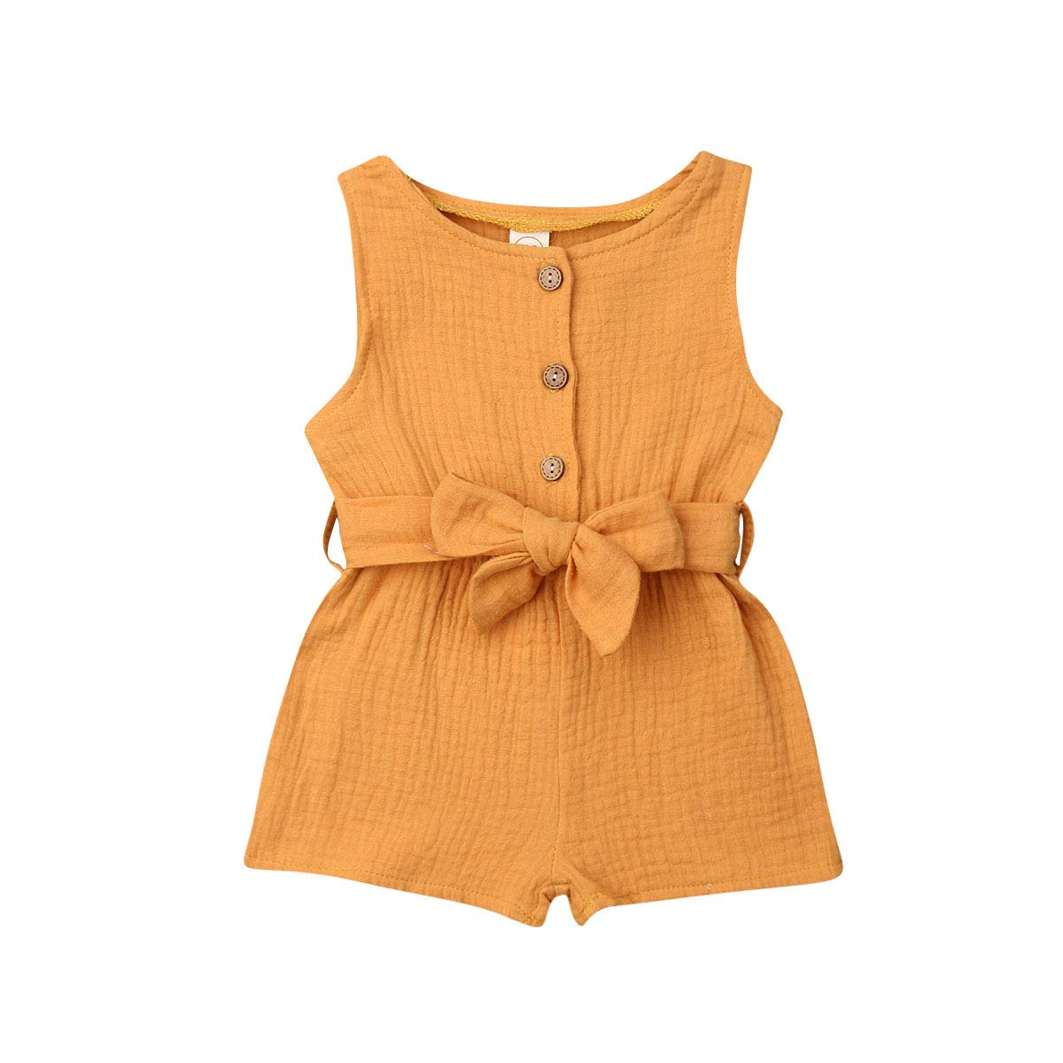 Newborn Infant Baby Girls Clothes Sleeveless Romper Solid Color Overall Bodysuit Jumpsuit Summer Outfits
