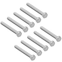 uxcell M6 Hex Bolt M6-1 x 60mm UNC Hex Head Screw Bolts A2-70(304) Stainless Steel Fully Threaded Hex Tap Bolts 10pcs
