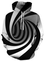 Ahegao Men Women Novelty Hoodies Jackets 3D Graphic Printed Pullover Sweatshirts with Big Pocket
