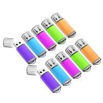4GB USB Flash Drive 10 Pack Easy-Storage Memory Stick K&ZZ Thumb Drives Gig Stick USB2.0 Pen Drive for Fold Digital Data Storage, Zip Drive, Jump Drive, Flash Stick, Mixed Color