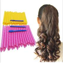"""Magic Hair Curlers Spiral Curls Styling Kit,30 No Heat Hair Curlers and 1 Styling Hooks,for extra long hair up to 22"""" (65cm)"""