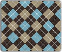 """Inked Playmats Argyle Blue/Brown PC – Gaming Mouse Pad 13x11"""""""