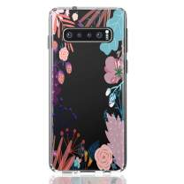 HUIYCUU Case Compatible with Galaxy S10E Case, Shockproof Cute Clear Design Slim Fit Soft TPU Bumper Colorful Pattern Back Cover Shell for Galaxy S10E, Tropical Floral