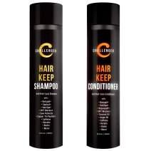 Challenger Hair Keep Shampoo & Conditioner, 2X 10 Oz Bottles   Hair Growth Combo   DHT Blockers  w/Baicapil, Capixil, Rejuvasoft, HairSpa   Caffeine, Biotin, Argan Oil, Coconut Oil & more!
