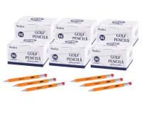 "Madisi Golf Pencils with Eraser, 2 HB Half Pencils, 3.5"" Mini Pencils, Pre-Sharpened, 6 Boxes, 576 Count"