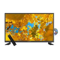 AXESS TVD1801-32 32-Inch LED HDTV, Features VGA/HDMI/SD/USB Inputs, Built-In DVD Player, Full Function Remote