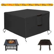 Saking Patio Fire Pit Cover Square 30x30x13 inch - Waterproof Windproof Anti-UV Heavy Duty Gas Firepit Furniture Table Covers