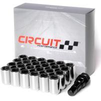 Circuit Performance Tuner Key Acorn Lug Nuts Chrome 12x1.5 Forged Steel (24pc + Tool)