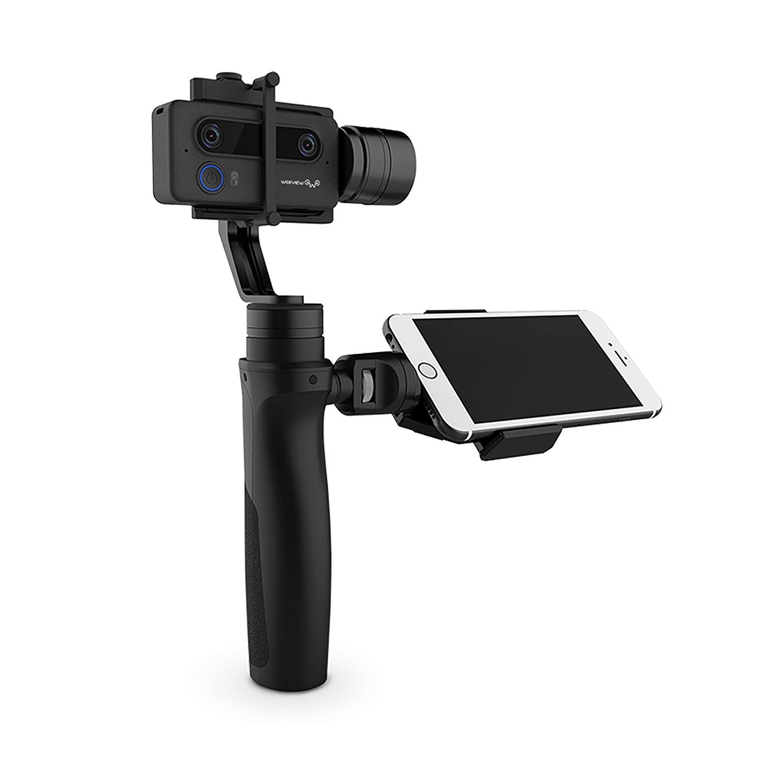 3D Camera with Gimbal Stabilizer Handheld Smartphone Streaming Camera Ultra HD 3K WiFi Mini Camera Photos and Video 3 Axis Handheld Stabilized Camera Gimbal 3D Stream YouTube Facebook(Cinematic Kit)