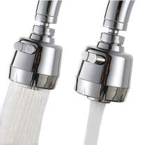 Kitchen Sink Aerators,360° Rotatable Kitchen Faucet Sprayer Head Replacement Faucet Head Attachment Anti-Splash Faucet Booster Shower Tap Nozzle Jet Diffuser (2 modes, Shorter Version)