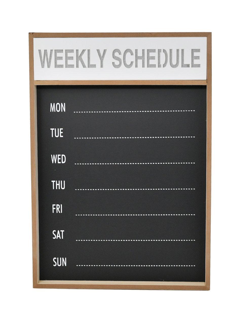Chalkboard Sign, Chalkboard Meal Planner, Chalkboard Easel, Hanging Chalkboard Sign, Chalkboard Calendar, LED Chalkboard Weekly Plan Board, Wall Mount Schedule Planner