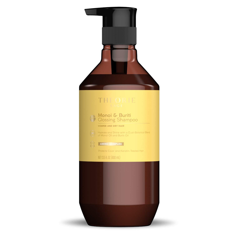 Theorie: Sage - Monoi & Buriti - Glossing Shampoo – Hydrate & Shine - For Coarse & Dry – Protects Color & Keratin Treated Hair (13.5 Fl.Oz. / 400 mL)