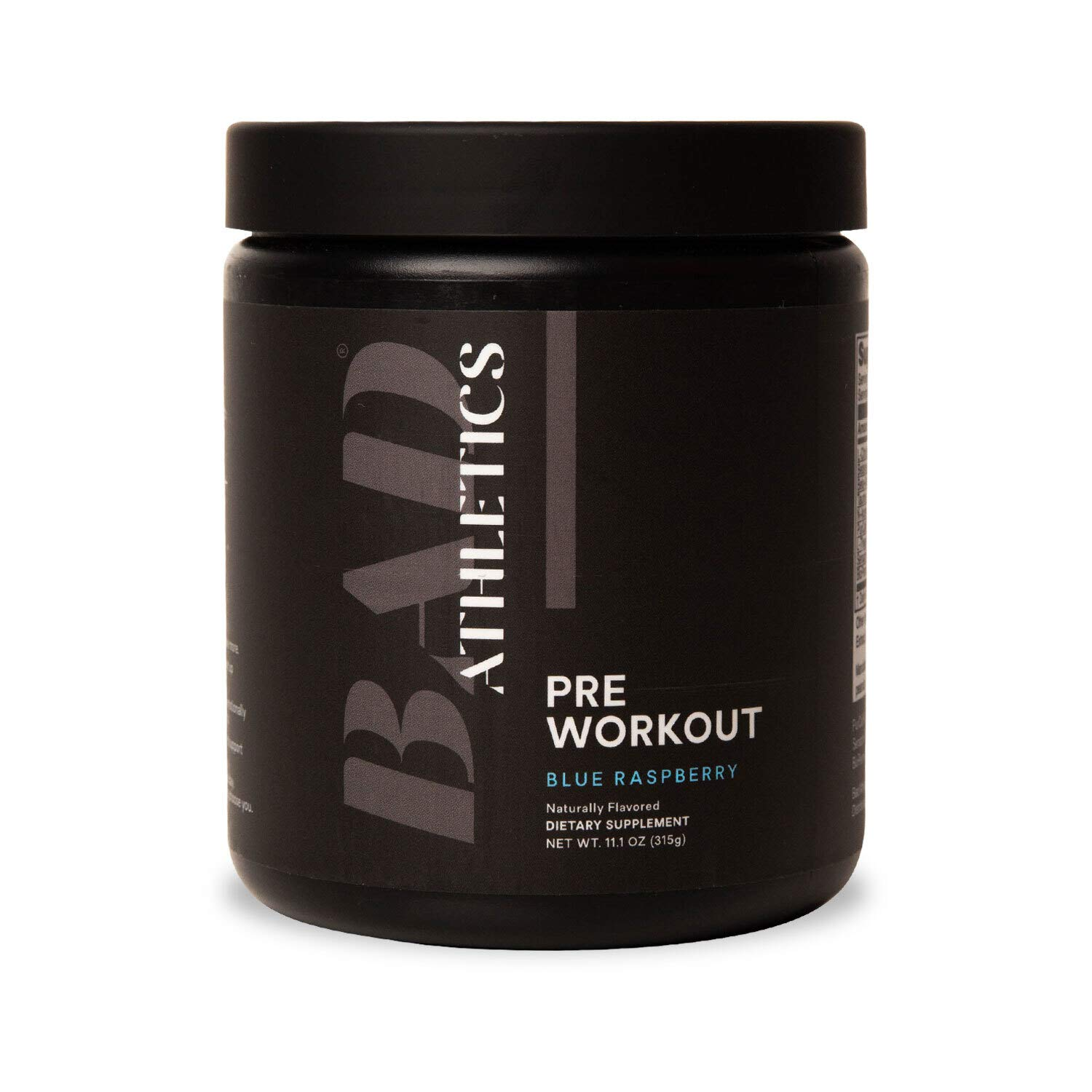 Bad Athletics Blue Raspberry Pre-Workout for Women, Energy to Show up, Focus to Put in The Work, and Endurance to do More!