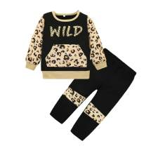 Girl Clothes Outfits, Baby Girls Clothes Sweatshirt Leopard Printed Toddler Long Sleeve Outfit Set