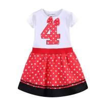 Mud Kingdom I Am This Many Birthday Dress for Girl