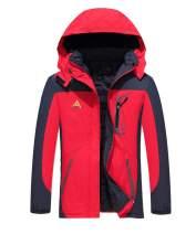 MYIFU Women's Mountain Waterproof Fleece Ski Jacket Windproof Rain Jacket