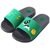 Anddyam Kids Family Household Anti-Slip Indoor Outdoor Home Slippers for Girls and Boys (12.5-13 Little Kid, Green)